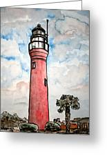 St Johns River Lighthouse Florida Greeting Card
