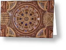 St. Josaphat Basilica Ceiling Greeting Card
