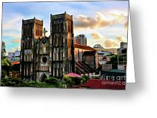 St. Joseph Cathedral Hanoi Vietnam   Greeting Card