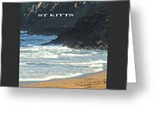 St Kitts Poster Greeting Card