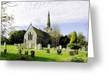 St Leonard's Church At Monyash Greeting Card