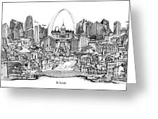 St. Louis 4 Greeting Card