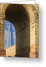 St Louis Arch And Eads Bridge   Greeting Card