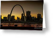 St Louis Arch At Sunset Greeting Card