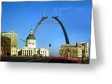 St. Louis Arch Construction Greeting Card