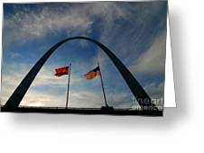 St Louis Arch Metal Gateway Landmark Greeting Card