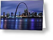 St Louis Black N Blue Greeting Card