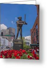 St. Louis Cardinals Busch Stadium Stan Musial Roses Greeting Card