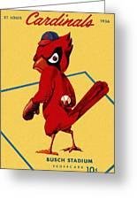 St. Louis Cardinals Vintage 1956 Program Greeting Card