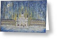 St. Louis  Cathedral And Old Government Buildings Greeting Card