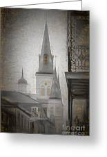 St. Louis Cathedral From Chartres St. - Nola Greeting Card