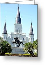 St. Louis Cathedral From Jackson Square Greeting Card