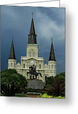 St Louis Cathedral In Jackson Square Greeting Card