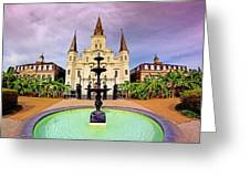 St. Louis Cathedral - New Orleans - Louisiana Greeting Card
