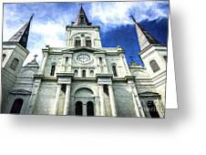 St. Louis Cathedral - Nola- Art Greeting Card