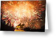 St. Louis Fireworks Greeting Card