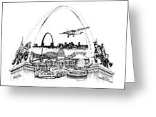 St. Louis Highlights Version 1 Greeting Card