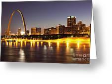 St Louis Skyline Greeting Card by Bryan Mullennix