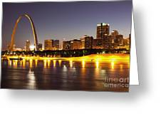 St Louis Skyline Greeting Card by Bryan Mullennix