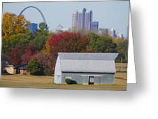 St Louis Skyline From Illinois Greeting Card