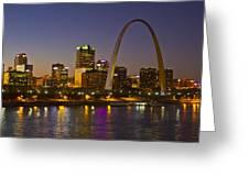 St Louis Skyline From Poplar Street Bridge Greeting Card