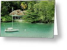 St. Lucia Mooring Greeting Card