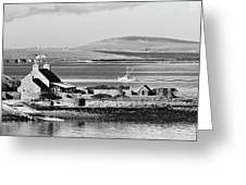 St. Margarets Hope, Orkney.    Black And White Greeting Card