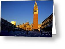 St Marks In Venice In Afternoon Sun Greeting Card