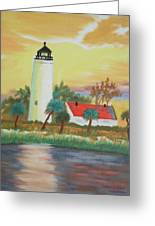 St Marks Lighthouse Fl 3 Greeting Card