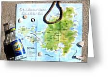 St. Martin St. Maarten Map Greeting Card
