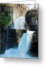 St Mary Falls Greeting Card