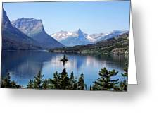 St Mary Lake - Glacier National Park Mt Greeting Card by Christine Till