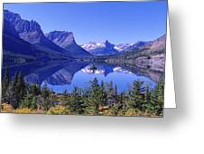 St Mary Lake Glacier National Park Mt Greeting Card