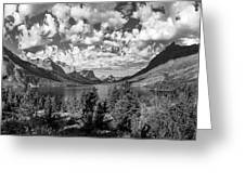 St Mary Lake Glacier National Park Panoramic Greeting Card