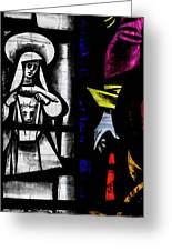 St Mary Redcliffe Stained Glass Close Up C Greeting Card