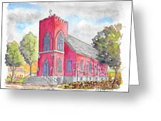 St. Mary's Catholic Church, Oneonta, Ny Greeting Card