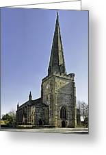 St Mary's Church At Uttoxeter Greeting Card