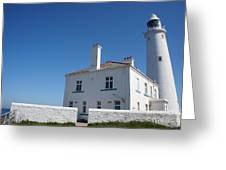 St. Mary's Island And The Lighthouse. Greeting Card