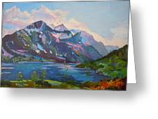 St. Marys Lake Glacier National Park Greeting Card