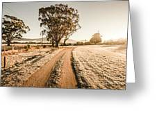 St Marys Winter Country Road Greeting Card