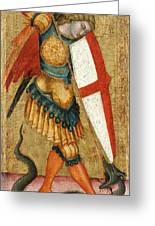 St Michael And The Dragon Greeting Card