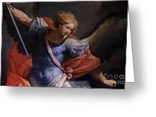 St Michael Detail Greeting Card