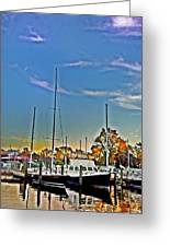 St. Michael's Marina On The Chesapeake Greeting Card