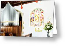 St Mylor Organ Pipes Greeting Card