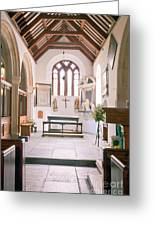 St Mylor South Aisle Chapel. Greeting Card