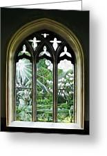 St Nicholas And St Magnus Church Window - Impressions Greeting Card