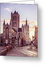 St. Nicholas Church, Gent Greeting Card