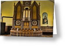 St Olafs Kirke Pulpit Greeting Card