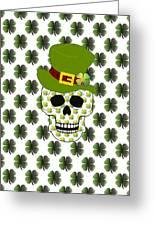 St Paddys Skull  Greeting Card