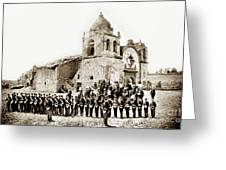 St. Patrick's Cadets On The Third Of July, 1882 At The  Greeting Card